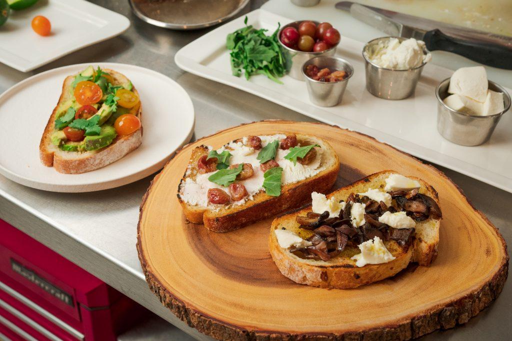 Three variations of toast