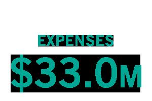 Expenses: $33 million
