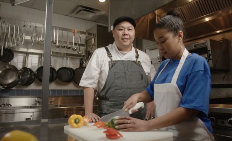 Danny Moon, Chef Instructor with a youth